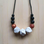 NEW - Silicone Necklace - Rose in Copper