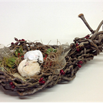 DORMICE Assemblage, Handmade Nest from Palm Tree, Viscose Dormice