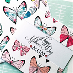 Happy Mother's Day Mum  butterfly bright lush stylish handmade card