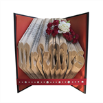 Mr & Mrs - Folded book art keepsake for your wedding