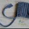 Slate Blue Newborn Crochet Baby Pixie Bonnet Beanie