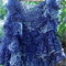 hand knit ruffled vest  100% acrylic purples and grey free size