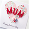 Happy Mother's Day MUM pastel floral heart roses card