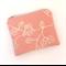 Fagus print purse - dusty pink