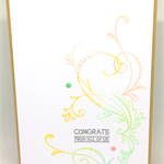 'Congrats From All of Us' Handmade Pretty Pastel C6 Greeting Card
