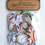 Alice In Wonderland Cut Shapes Pack - Wonderland characters and embellishments