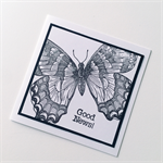 Good News monarch butterfly congratulations monochrome black white   card