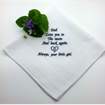 Handkerchief, Hanky for Dad, with a Sentimental Verse.