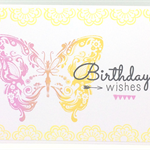 Pretty Butterfly/Fairy Handmade C6 Birthday Greeting Card