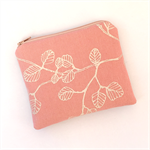 Fagus print purse - dusty pink