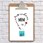 Home is where mum is Mother's Day  clipboard art wall decor