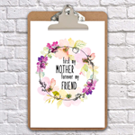 first my mother Mother's Day  clipboard art wall decor