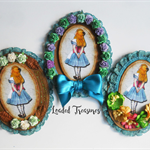 Alice In Wonderland in a Frame Embellishments - 3 to choose from