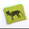 Screen printed Tasmanian tiger purse - lime green