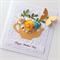 Happy Mother's Day yellow mustard teapot roses blooms butterfly flowers card