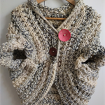Shrug Jumper with pink pop