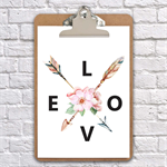 love arrows  clipboard art wall decor
