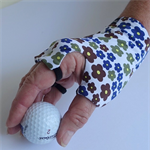 Glove: sunglove, sun protection, fingerless, palmless, lycra for golf or driving
