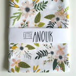 Organic Cotton STOKKE SLEEPI OVAL Cot Fitted Sheet in Sprigs and Blooms