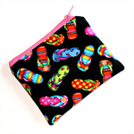 Little Coin Purse in Colourful Thong Fabric