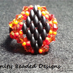 Crystal and Superduo Beaded Ring