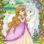 "Unicorn Princess wall art, fairytale art ""The Enchanted Garden"" fine art print."