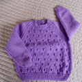SIZE 3 - Hand knitted jumper in purple