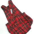 Tartan in red Romper You pick the size 1
