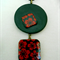Black & Red Pendant in 2 sections - FREE POSTAGE