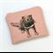 Screen printed Tasmanian devil purse - dusty pink