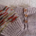 SIZE 3-4 yrs Hand knitted jumper: Acrylic, Washable, warm, boy