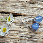 Brazilian Aquamarine Gemstone & Sterling Silver Earrings