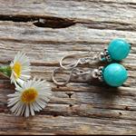 Amazon Gemstone & Sterling Silver Earrings