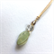 14k gold filled wire wrapped pendant- pale green fluorite, crystal and pearl