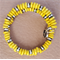 Yellow Memory Wire Stainless Steel Bracelet.