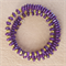 Purple and Gold Memory Wire Stainless Steel Bracelet.