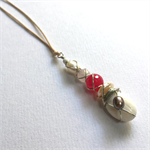 Pearl and semi-precious stone wire wrapped pendant