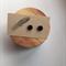 Hand Painted Wooden Hexagon Earrings in Black Hypoallergenic Studs