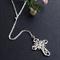 Delicate Long Silver Cross Necklace