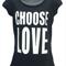 Choose Love - Ladies Puff Sleeve Tee Black