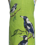 Metro Retro Australian MAGPIES Tea Towel Apron - Birthday Mother's Day