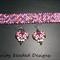 Pretty In Pink Bracelet and Earring Set