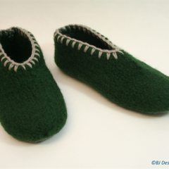 CO for Kym RICKARDS: Washable Felt Slippers with leather soles, EU38