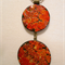 Pendant - Orange Autumn Eggshell Design - FREE POSTAGE