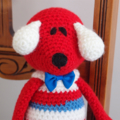 Dani Bear : crochet, toy, safe, OOAK, washable,  baby shower, by CuddleCorner