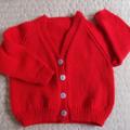SIZE 3 -4 yrs - Hand knitted: Acrylic, Washable, Unisex