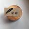 Hand Painted Wooden Hexagon Earrings in Grey Hypoallergenic Studs