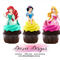 Disney Princesses Edible Wafer Stand-Up Cupcake Toppers - Set of 16