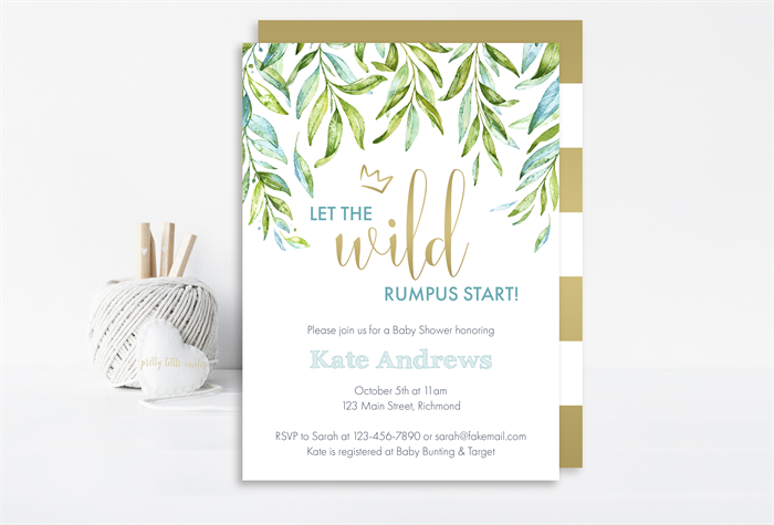 Where The Wild Things Are Baby Shower Invitation Printable