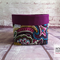 Plum Paisley Fabric Storage Basket, Bedroom Organiser, Bathroom Storage
